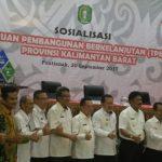 Bappeda Kabupaten Sanggau Menghadiri Sosialisasi Tujuan Pembangunan Berkelanjutan (TPB) di Pontianak