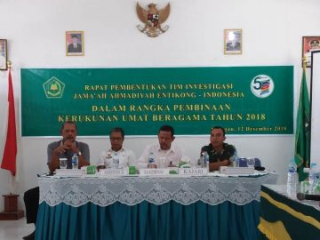 Pembentukan Tim Investigasi Jama'ah Ahmadiyah Entikong
