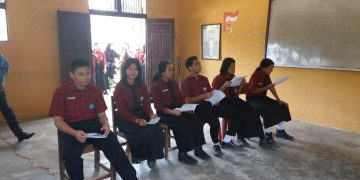 Perekaman KTP-EL Di SMA N 1 Beduwai Kecamatan Beduai 14 Februari 2019