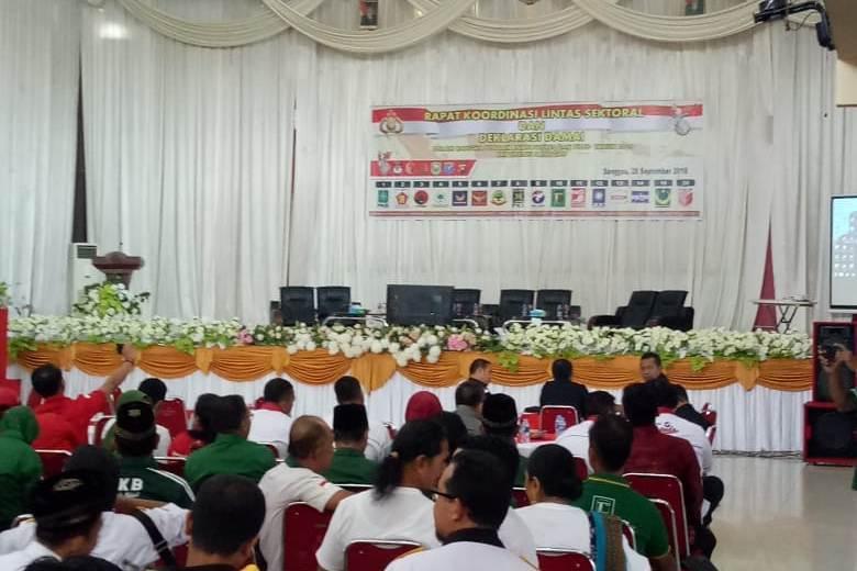 Rapat Koordinasi Lintas Sektoral dan Deklarasi Damai Pilpres dan Pileg 2019