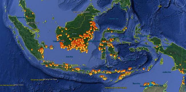 Sebaran Hotspot Terbanyak Di Kalimantan Barat
