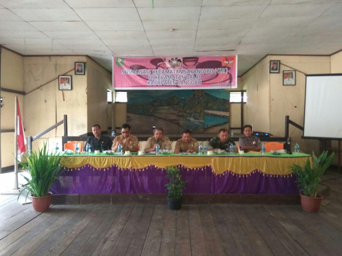 Sosialisasi Kecamatan Sayang Ibu di Kecamatan Balai