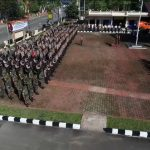 TNI-Polri Gelar Apel Pergeseran Pasukan Pengamanan TPS di Kab Sanggau