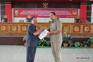 Wakil Bupati Sanggau Sampaikan Nota Pengantar 4 Raperda