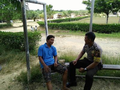 Patroli di Desa Binaan Bripda Angga Jaya Mahendra Ajak Sukseskan Pemilu Tahun 2019