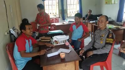 Sambangi Kantor Desa Brigadir G. Januar Ajak Sukseskan Pemilu Tahun 2019