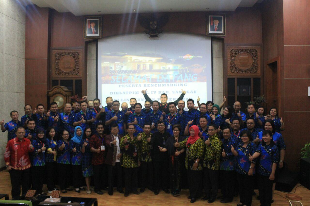 kota Bandung menjadi lokus Benchmarking Diklatpim Tingkat IV Angkatan XV Kab. Sanggau