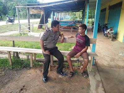 Bhabinkamtibmas Himbau Jangan Terjerumus Kedalam Kenakalan Remaja