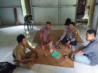 Bhabinkamtibmas Tatap Muka Bersama Kadus Lubuk Piling Desa Kuala Rosan