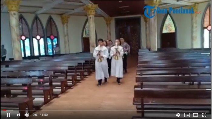 VIDEO: Misa di Gereja Katedral Sanggau Dalam Rangka Hari Bhayangkara Ke-73