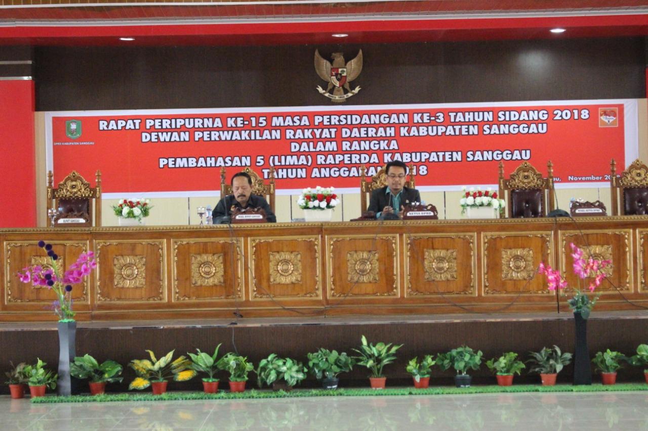 Jawaban Dan Penjelasan Eksekutif Atas Pemandangan Umum Fraksi-Fraksi DPRD Sanggau Terhadap 5 Raperda Kabupaten Sanggau