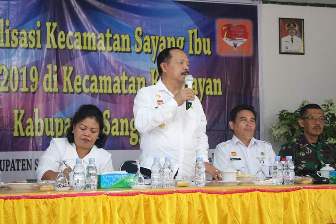 Wakil Bupati Sanggau Membuka Sosialisasi Sayang Ibu Tahun 2019 di Kec.Kembayan