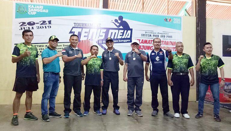 Meriahkan HUT Adhyaksa ke-59, Kajari Sanggau Gelar Turnamen Tenis Meja