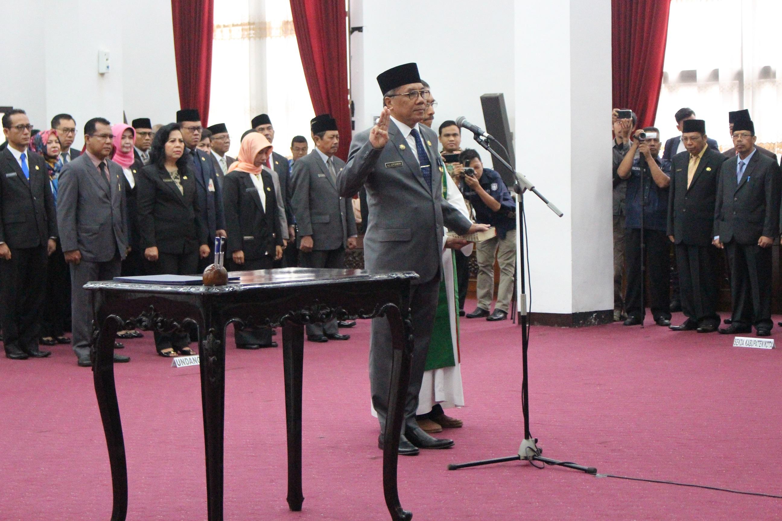 A.L.Leysandri, SH Resmi di Lantik Sebagai Sekda Provinsi Kalbar