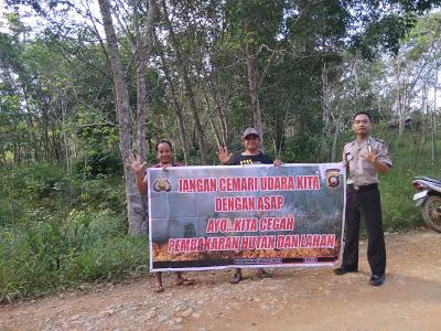 Bahabinkamtibmas Berikan Himbauan Stop Karhutla