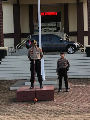 Apel Pagi Polres Sanggau Dipimpin Langsung Oleh Kapolres Sanggau