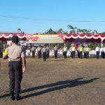 Polres Sanggau Gelar Apel Bersama Pengamanan Gawai Dayak
