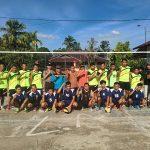 Bhabinkamtibmas Hadiri Pembukaan Pertandingan Bola Volly di Desa Binaan