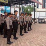 Arahan Kasat Sabhara kepada Anggota sebelum Pelaksanaan Patroli