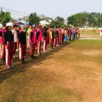 Sinergitas Bhabinkamtibmas dan Bhabinsa Latih Paskibra Kecamatan Tayan Hulu