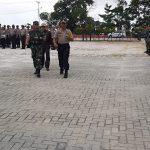 Polres Sanggau Laksanakan Apel Gelar Pasukan Ops Bina Karuna Kapuas 2019 di Halman Sabang Merah Sanggau