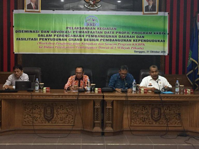 Workshop Kebijakan Sasaran Program KKBPK Dalam Perencanaan Pembangunan Daerah di wilayah Kab.Sanggau