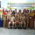 Focus Discussion Perkembangan Karir Jabatan Fungsional Pendidikan Dan Kesehatan BKPSDM Di Kab.Sanggau