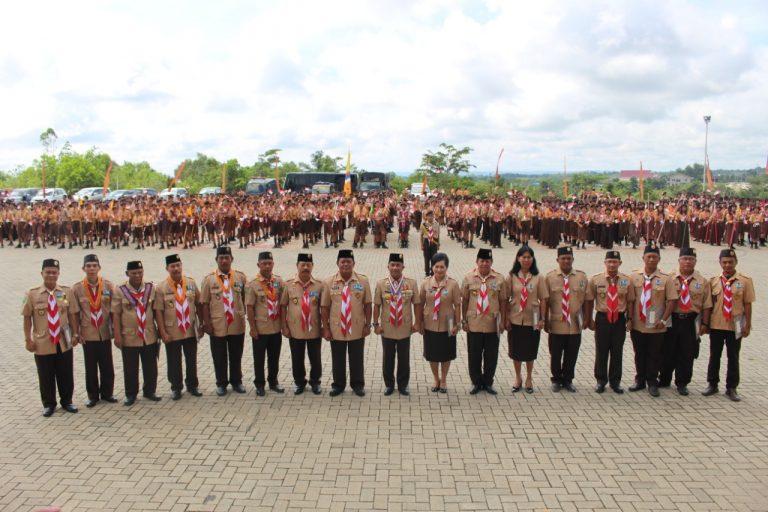 1.109 Peserta Upacara Peringatan HUT Pramuka ke-57 Di Kabupaten Sanggau