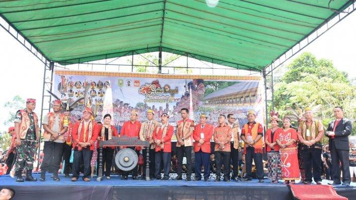 Ini Sambutan Ketua DAD Sanggau Saat Hadiri Gawai Dayak Nosu Minu Podi Kabupaten Sanggau