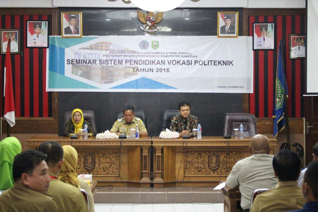 PSDKU Politeknik Negeri Pontianak di Kabupaten Sanggau Adakan Seminar Pendidikan Vokasi