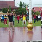 Senam Bersama Dalam Rangka Gebyar Kemerdekaan tahun 2018, Wabup Sanggau: Berolahragalah Demi Jiwa dan Raga Yang Sehat