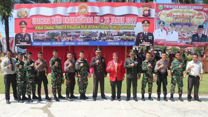 Bupati Sanggau Pimpin Upacara Hari Bhayangkara di Kembayan, Bacakan Amanat Presiden Jokowi