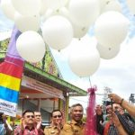 Pameran Pesparawi IX Tingkat Provinsi Kalbar Resmi Dibuka, Bupati Martin Lepas Balon Peresmian