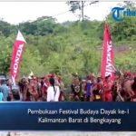 VIDEO: Pembukaan Festival Budaya Dayak ke-1 Kalimantan Barat di Bengkayang