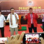 Debat Publik Antar Paslon Bupati dan Wakil Bupati Sanggau Tahun 2018