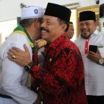Wakil Bupati Sanggau Sambut Kedatangan Jemaah Haji di Masjid Agung Al-Muawanah