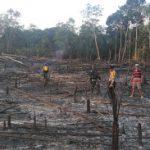 Bhabinkamtibmas dan Bhabinsa Lakukan Pengecekan Titik Hotspot di Kecamatan Beduai