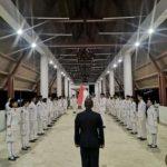 Pasukan pengibar bendera (paskibra) Merah Putih HUT RI ke 74 Kecamatan Tayan Hilir, Kabupaten Sanggau