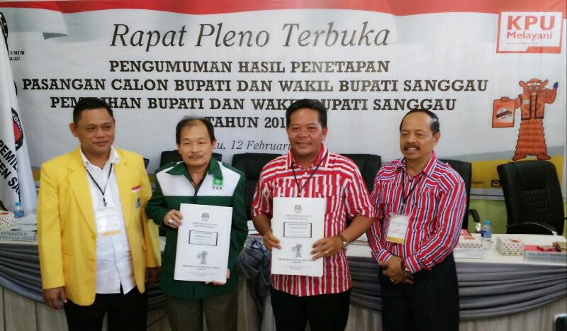 KPU Sanggau Tetapkan Pasangan PH-YO dan YAS Maju Pada Pilkada Juni Mendatang