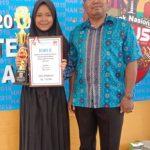 Rizqina Rahmi Siswi SMP Negeri I Tayan Hilir Peraih Juara ke-II OSN Matematika Tingkat SMP/MTs