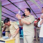 Bupati Sanggau Resmikan Jaringan Lisdes Di Dusun Riam Kecamatan Parindu