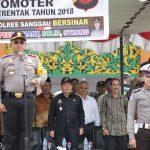 Kapolres Sanggau Pimpin Apel Gelar Pasukan OPS Mantap Praja 2018