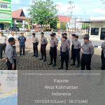 Karendal Ops Bina Karuna 1 Kapuas 2019 pimpin Apel Kesiapan Ops Bina Karuna di Halaman Mapolres Sanggau