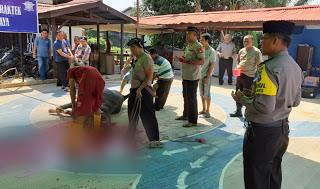 Kabag Ops Polres Sanggau Ikuti Kegiatan Penyembelilahan Hewan kurban