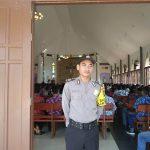 Brigadir Sapto Laksanakan Pam Gereja