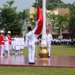Upacara Detik-Detik Proklamasi Peringatan HUT RI Ke-74 di Kabupaten Sanggau Berlangsung Hikmat