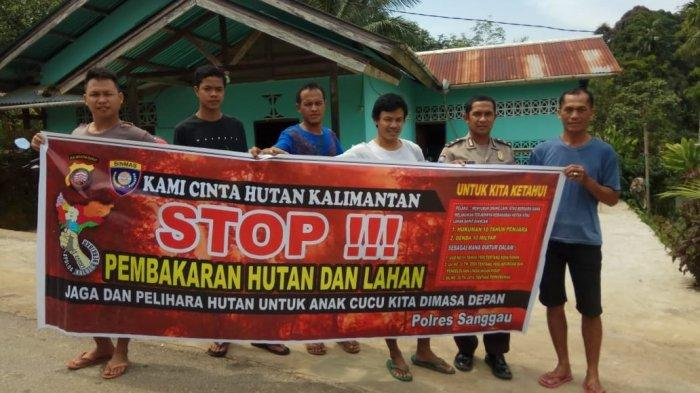 Sat Binmas Polres Sanggau Kampanye Cegah Karhutla