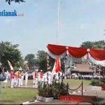 VIDEO: Suasana Upacara Bendera HUT RI ke 74 di Kabupaten Sanggau