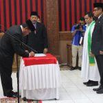 Bupati Sanggau kembali melantik Ir.Kukuh Triyatmaka, MM sebagai Pj.Sekda Kabupaten Sanggau