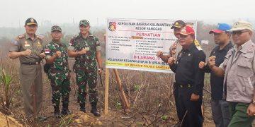 Bupati Sanggau Saksikan Penyegelan Lahan Kebun Milik PTPN XIII